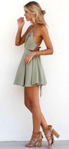 Olive Shalter Halter Dress | SaboSkirt