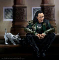 Loki and Fenrir.
