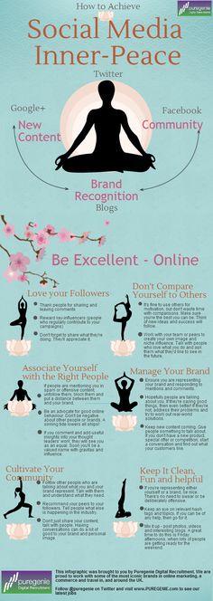 How To Achieve Social Media Inner-Peace #socialmedia #infographic