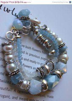 ON SALE chunky bracelet multi strand wrap bracelet by soulfuledges, $55.12
