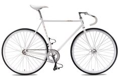 white Fuji Feather—pretty nice for a brand new bike