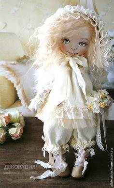 Купить Куклы ангелы.Текстильная кукла ангел Cофи. - бежевый, кружево, кружевной