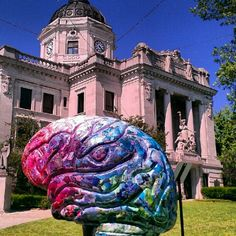 "@visitbtown's photo: ""Courthouse lawn brain! #bloomington #brainextravaganza"""