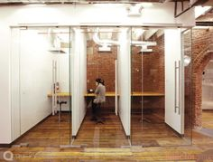 if you're going to have open-concept... then phone booths are a must