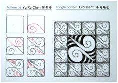 Croissant Tangle Pattern