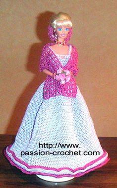 Robe de soirйe au crochet pour Barbie