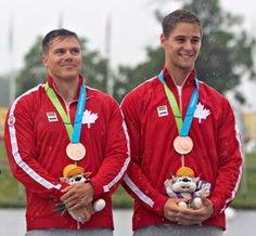 July 14 - Canoeing Flat - Men - K2 200m. Canada's Mark de Jonge and Pierre-Luc Poulin - Bronze.
