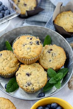 Super healthy & deliciously moist blueberry muffins made with oats and Spelt flour. Use fresh blueberries for maximum moist flavor. Serve homemade muffins