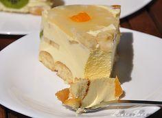 Tort Diplomat | Retete culinare cu Laura Sava - Cele mai bune retete pentru intreaga familie Just Desserts, Cheesecake, Goodies, Cooking Recipes, Pudding, Sweet, Martha Stewart, Delicious Food, Sweet Like Candy