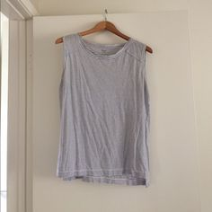 Blue and white striped tee 100% Pima cotton Madewell Tops Tank Tops