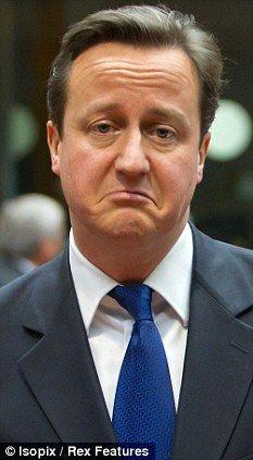 David Cameron is sad!