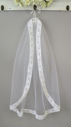 Mantilla Style First Communion Veil by embroideredheirlooms