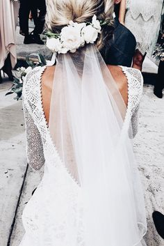 Browse our stunning elixir clothing now. Grace Loves Lace artfully crafts wedding gown designs using the finest European laces & silks for a new generation of bride. Veil Hairstyles, Wedding Hairstyles With Veil, Bridal Hairstyles, Wedding Hairdos, Simple Hairstyles, Hairstyles 2018, Grace Loves Lace, Boho Wedding Dress, Wedding Day
