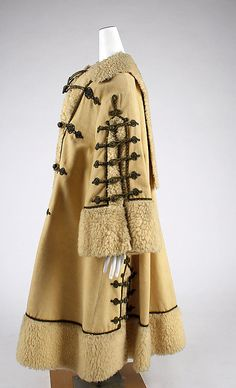 Coat Date: ca. 1863 Culture: British Medium: wool, fur Dimensions: [no dimensions available] Credit Line: Gift of Miss Irene Lewisohn, 1937 Accession Number: Historical Costume, Historical Clothing, Cool Outfits, Fashion Outfits, Womens Fashion, Victorian Fashion, Vintage Fashion, Capes, Civil War Fashion