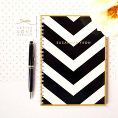 Personalized Notebook - V Stripe - Handmade - Choose your own Monogram by LetterLoveDesigns on Etsy https://www.etsy.com/listing/159306891/personalized-notebook-v-stripe-handmade