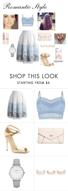 """""""Romantic Style"""" by mari-eleftheriadou ❤ liked on Polyvore featuring Chicwish, Lipsy, Via Spiga, GUESS, Topshop, New Look and Samsung"""