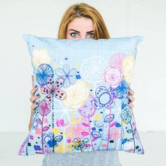 rachael taylor Quirky Floral Stems Cushion Cover