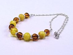 Baltic Amber Sterling Necklace  N355 by TheSilverBear on Etsy