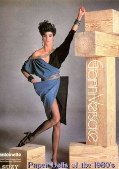 1982 Ad Campaign for Gianni Versace Photographed by Richard Avedon model: Janice Dickinson Versace Fashion, 80s Fashion, Fashion History, Fashion Models, Fashion Beauty, Vintage Fashion, Color Fashion, Janice Dickinson, Original Supermodels