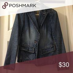 Jean blazer jacket Worn a few times Gap Jackets & Coats Jean Jackets