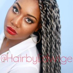 """Silver Senegalese Twists"