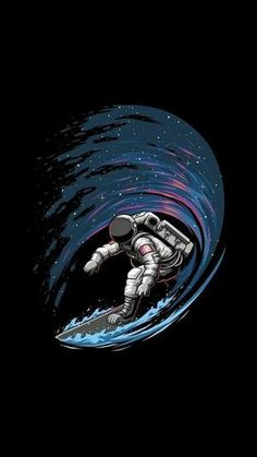 iphone wallpaper space Astronaut Surfing in Space iPhone Wallpaper<br> Wallpaper World, Space Iphone Wallpaper, Dark Wallpaper, Screen Wallpaper, Galaxy Wallpaper, Wallpaper Backgrounds, Astronaut Wallpaper, Space Artwork, Space Space