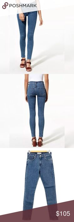 6270cb35fce99 Wilfred x Citizens of Humanity Aida Skinny Jeans New Style   Color  True  Blue Approx. Measurements laying flat Waist Rise Inseam wilfred x Citzens  of ...