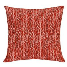 $10 Outdoor Pillow - Red Herringbone - Room Essentials™ : Target