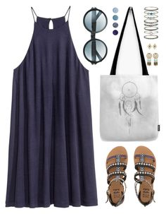 """""""OOTD - Blue dress"""" by by-jwp ❤ liked on Polyvore featuring H&M, New Look, Billabong, Tom Ford, Accessorize, Terre Mère, summerstyle, summerdress, summeroutfit and summersandals"""