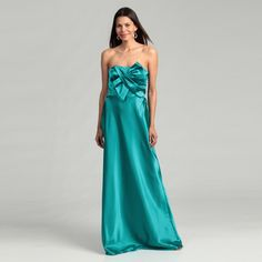 @Overstock - A beautiful bow-embellished bodice highlights this amazon blue dress from Adrianna Papell. Fully lined, this dress is finished with a sweetheart neck, sleeveless design and light stretch.http://www.overstock.com/Clothing-Shoes/Adrianna-Papell-Womens-Amazon-Bow-Bodice-Dress/6450683/product.html?CID=214117 $41.64