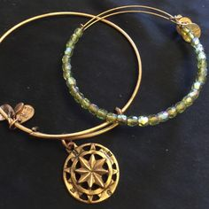 Alex & Ani Jewelry - Alex and Ani set, Gold Compass & Lime Rock Candy Purchased Poshmark 6/21/16