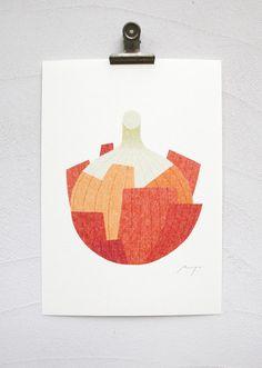 Onion print by Ryo Takemasa. #MalloryMcInnis