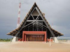 The Assinie-Mafia Church by Koffi & Diabaté Architectes. Image © François-Xavier Gbré