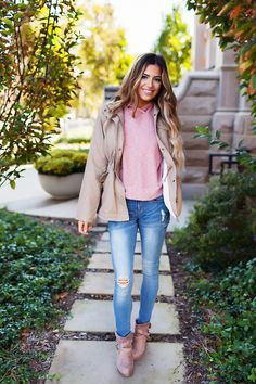 Khaki Faux Fur Lined Jacket - Dottie Couture Boutique