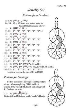 Irishka Bolokhnova   VK … Tatting Necklace, Tatting Jewelry, Lace Jewelry, Tatting Lace, Jewellery, Needle Tatting Patterns, Hand Embroidery Patterns, Tatting Tutorial, Lace Making