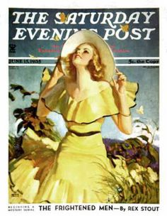 Woman in Yellow,June 1935 Giclee Print by Andrew Loomis pinned with Bazaart Jean Renoir, Koloman Moser, Marion Davies, Anna Pavlova, Mary Blair, Louise Brooks, Robert Mcginnis, Carole Lombard, Norman Rockwell