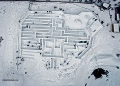 Zakopane - budowa największego śnieżnego labiryntu na świecie.