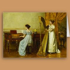 The Music Room, Vintage Greeting Card