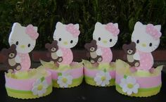 Hello Kitty Baby Shower Centerpieces