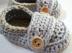 Crochet Baby Booties  Organic Cotton Little by HeathersHobbies