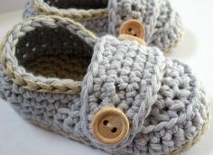 Crochet Baby Booties Organic Cotton Little by HeathersHobbies