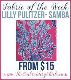 Fabric of The Week T-Shirt.  Sorority Stitches, family shirts and letters for only $15