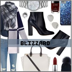 Blizzard by sonny-m on Polyvore featuring polyvore, fashion, style, WithChic, Frame Denim, Gianvito Rossi, Gucci, Inverni, Christian Dior and MAC Cosmetics