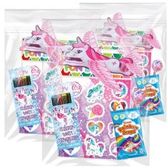 Unicorn Pre-filled Party Bag x 10 Unicorn Birthday Parties, 10th Birthday, Unicorn Party, Birthday Party Themes, Birthday Ideas, Bubble Wands, Unicorn Stickers, Unicorns And Mermaids, All Holidays