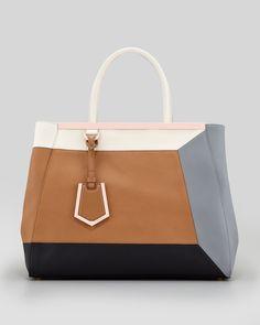 Fendi - 2Jours 3D Vitello Colorblock Medium Tote Bag - http://womenspin.com/handbags/fendi-2jours-3d-vitello-colorblock-medium-tote-bag/