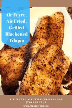 Air Fryer Dinner Recipes, Air Fryer Recipes Easy, Talipia Recipes, Blackened Tilapia, Air Frier Recipes, Cooking Recipes, Healthy Recipes, Seafood Recipes, Fish Recipes