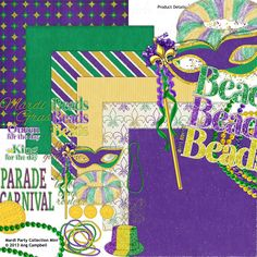 Mardi Party Collection Mini by Ang Campbell -- awesome Mardi Gras collection!
