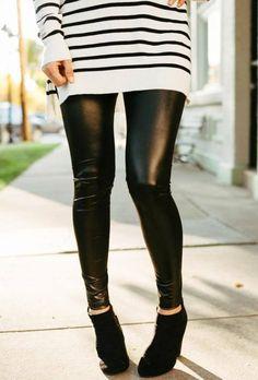 Faux Leather Leggings: