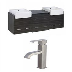 American Imaginations Xena Farmhouse 72'' Double Bathroom Vanity Set
