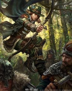 Mobius Final Fantasy - Robin Hood by anotherwanderer (Laura Sava) Mobius Final Fantasy, Arte Final Fantasy, Fantasy Kunst, Character Portraits, Character Art, Character Inspiration, Medieval Art, Medieval Fantasy, Paladin